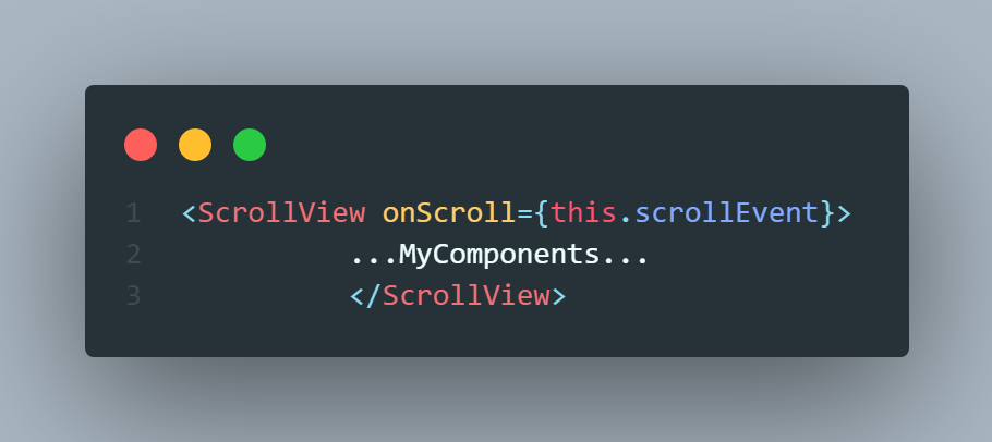 React native scrollview onScroll