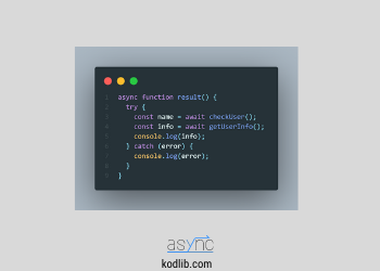 Javascript async await nedir